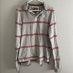 Men's Large Abercrombie and Fitch striped polo